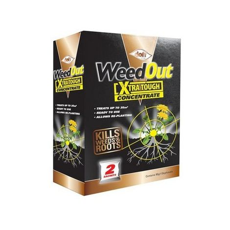 DOFF F-FC-002-DOF WeedOut Xtra Tough Weedkiller Concentrate 2 x Sachets
