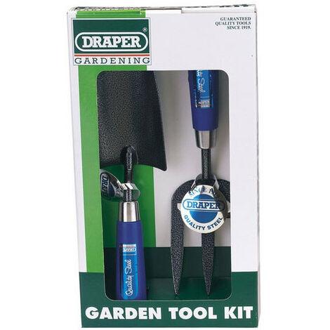 Draper 65960 2 Piece Carbon Steel Heavy Duty Hand Fork and Trowel Set