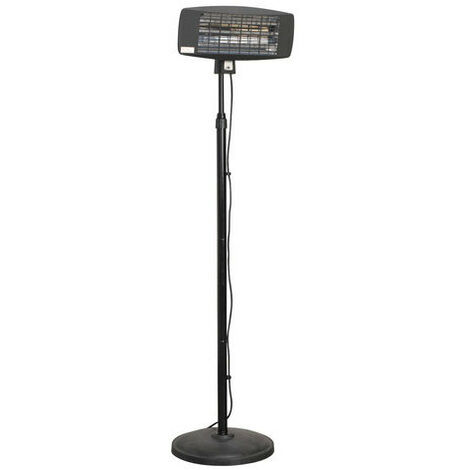 Sealey IFSH2003 2000W High Efficiency Infrared Quartz Patio Heater with Telescopic Floor Stand