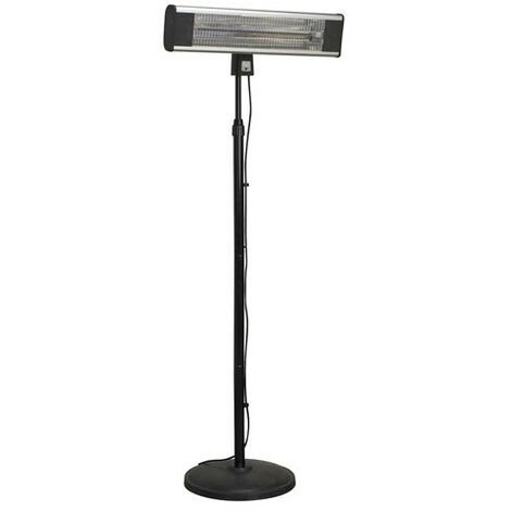 Sealey IFSH1809R 1800W High Efficiency Carbon Fibre Infrared Patio Heater with Telescopic Floor Stand