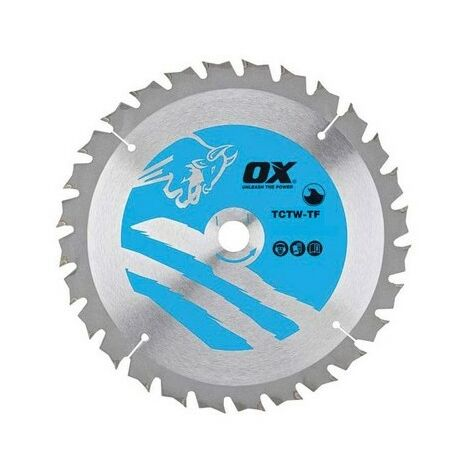 OX TCTW-TF-1651624 Wood Cutting Thin Circular Saw Blade 165/16mm 24 Teeth ATB