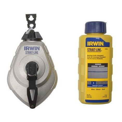 Irwin Strait-Line 10507684 HPP Chalk Reel Set 30m & Blue 113g Chalk