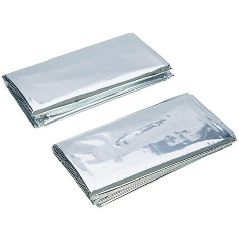 Silverline 226306 Emergency Foil Blankets 2pk 1 x 2m