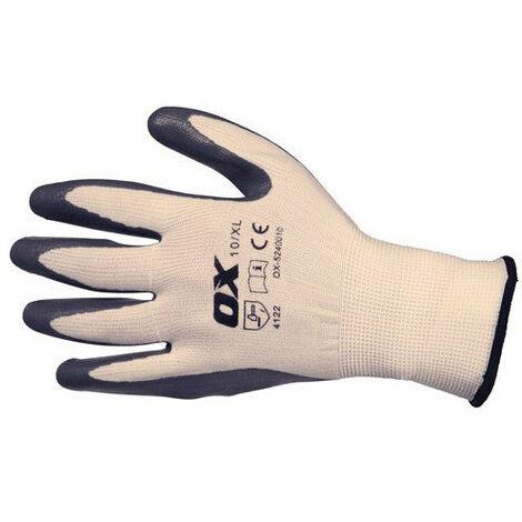 OX S249010 Nitrile Flex Gloves Size 10