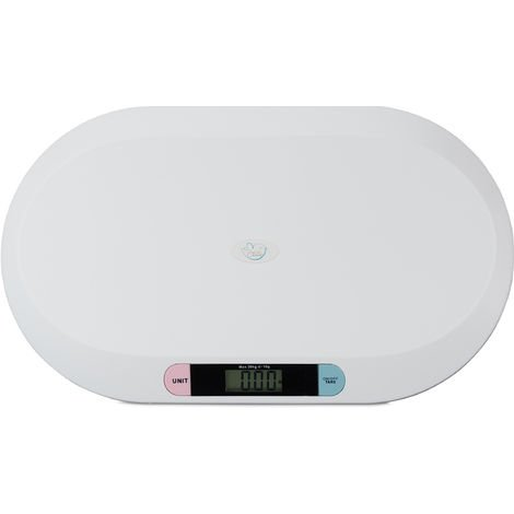 Little Choice Digital Baby Scales for Infants up to 20 kg, Breastfeeding and Pet Scale, Batteries Included, White