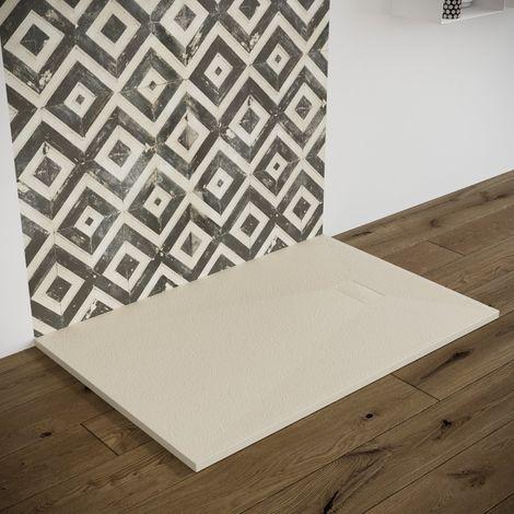Piatto doccia effetto pietra ardesia stone smc piletta inclusa 70X120 Euclide spessore 2,6 cm