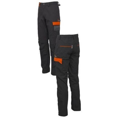 Pantaloni da lavoro con ginocchia rinforzate e tasca porta ginocchiere - Taglia: M