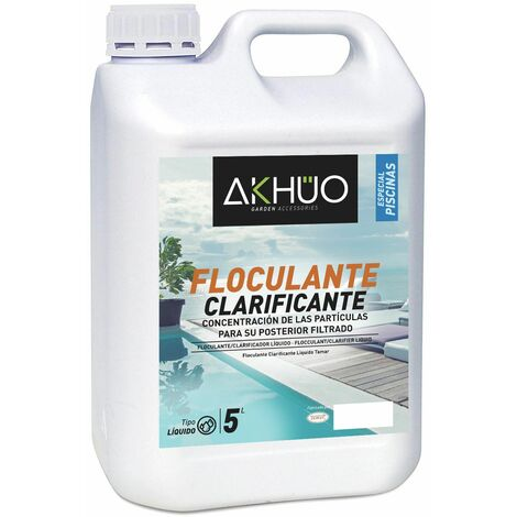 FLOCULANTE CLARIFICANTE LIQUIDO 5L AKHUO