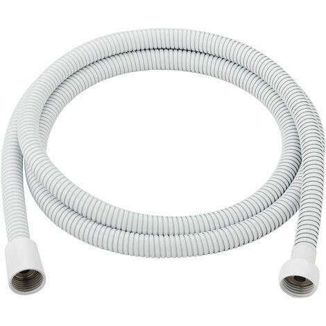 Flexo ducha inox luxe blanco 1 8mts