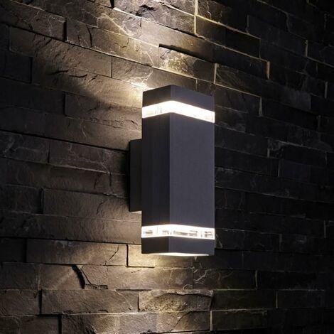 Biard Architect Square Up / Down Wall Light - Outdoor Indoor Garden IP54 Waterproof