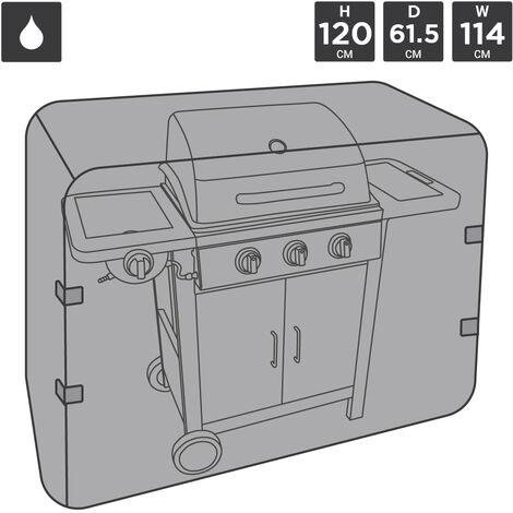 Charles Bentley Universal Waterproof Premium Gas Charcoal BBQ Cover Medium 3 - 4