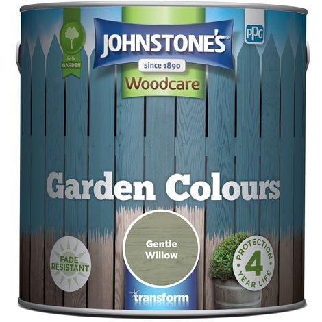 Johnstone\'s Garden colours Exterior Wood Paint 2.5L (select colours)