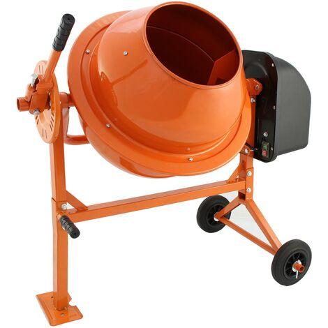 T-Mech - Bétonnière Èlectrique Portable 70 Litres 250W - Orange