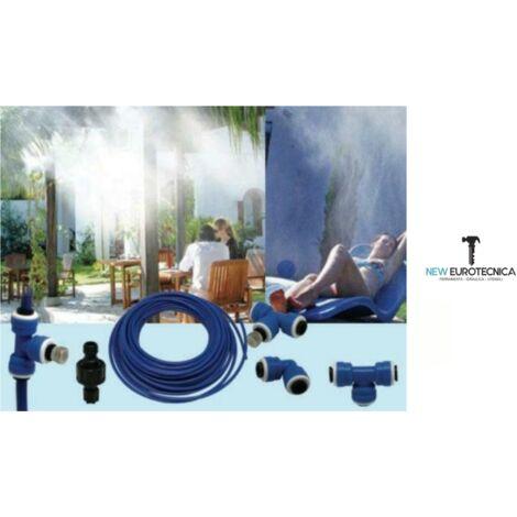 Kit nebulizzazione rinfrescante mt 15 completo (gazebo giardino) umidifica