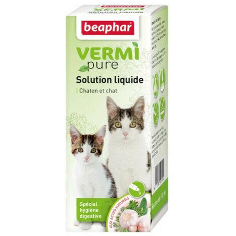 Solution de purge aux plantes pour chat Vermipure 50 ml