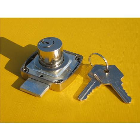 200402 serratura da antina a cilindro ottonato 20x25mm