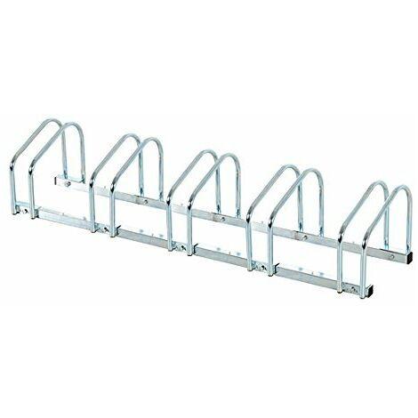 Homcom Rastrelliera Porta biciclette Parcheggio per 3 Biciclette Tubi d'acciaio, 70.5x33x27cm