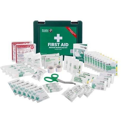 St John Ambulance BS 8599-1:2019 Compliant Medium Workplace First Aid Kit