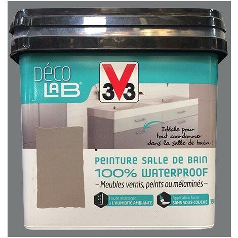 V33 Déco LAB Peinture Salle de bain 100% Waterproof Roche 0,75 L - Roche