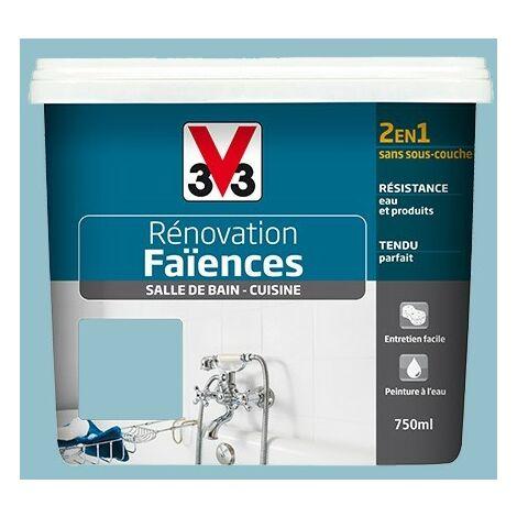 V33 Rénovation Faïences Azur Satin 0,75 L - Azur