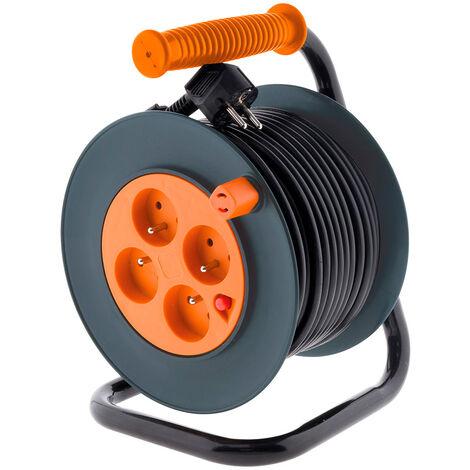 Enrouleur HO5VV-F 4 prises 3G1mm² 25m + coupe-circuit - Zenitech