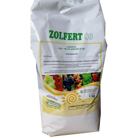 Zolfo agricolo bagnabile correttivo vite frutticoltura ortaggi kg1 zolfert 80