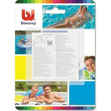Kit 10 pz toppe adesive per riparazione piscina ripara gommoni bestway 62068