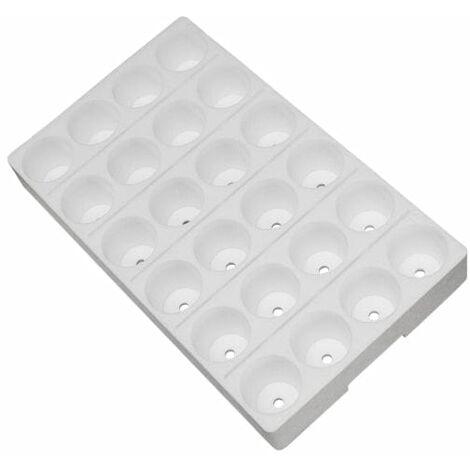 Seminiera 104 fori - Tondi - 8 x 13 - polistirolo bianco