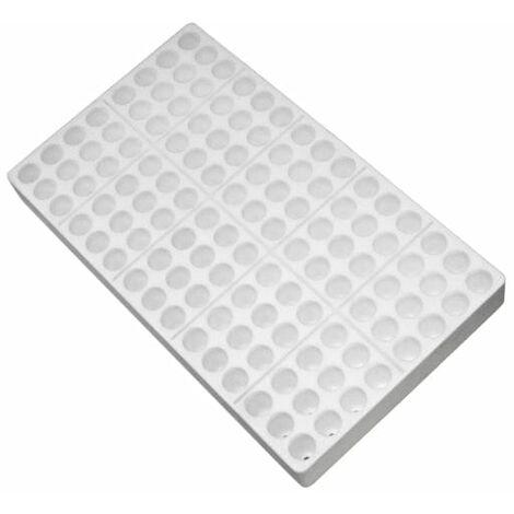 Seminiera 120 fori - Tondi - Sezionabile - 8 x 15 - in polistirolo bianco