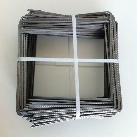 Lot 100 Agrafes métalliques épointées pour toile de paillage - Largeur : 0 m