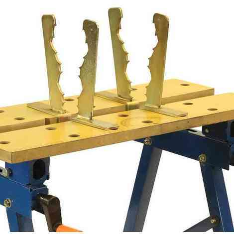 Saw horse log wood holder clamp jaws fits workmate workbench chainsaw cutting