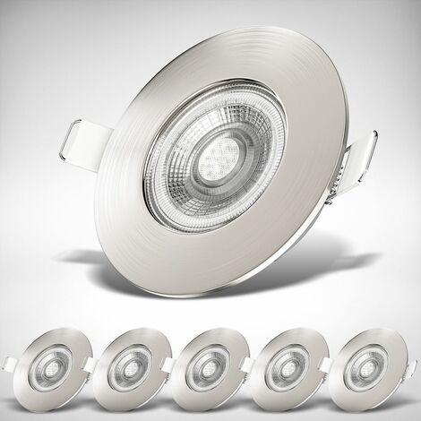 6x LED Bad Einbauspots Strahler Einbauleuchten Lampe ultraflach Deckenspots IP44