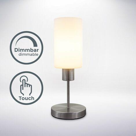 Tischleuchte Touchlampe Nachttisch-Lampe Schreibtischlampe Glas Wohnzimmer E27