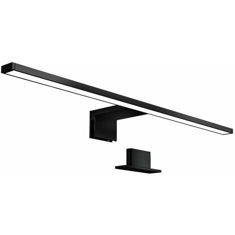 LED Bad Spiegelleuchte Badezimmer Beleuchtung Aufbau IP44 Schminklicht schwarz