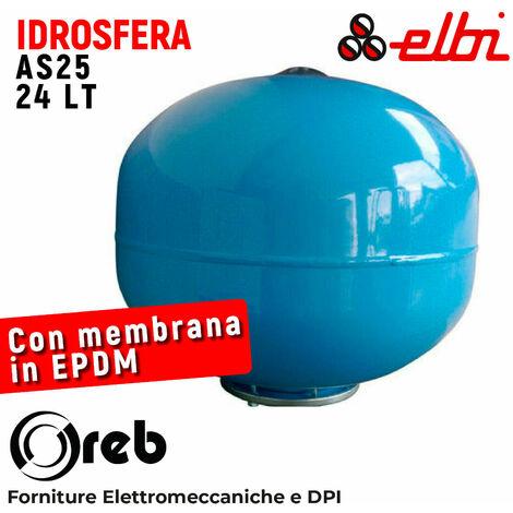 Vaso espansione idrosfera autoclave 24 lt litri acqua sfera membrana elbi ita