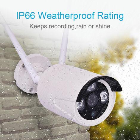 1080P CCTV Wireless Security Surveillance IR Night Camera Kit With Alertor New