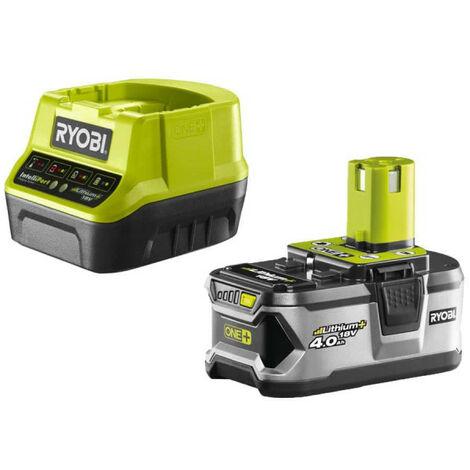 Pack batterie RYOBI 18V OnePlus 4.0Ah LithiumPlus et chargeur rapide 2.0Ah Lithium-ion RC18120-140
