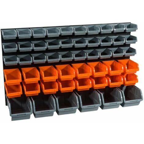 Panneaux muraux avec bacs à bec 2panneaux,52bacs Werkapro