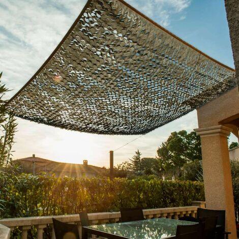 Toile d'ombrage ajourée taupe 120g/m2 carrée 3x3m Werkapro