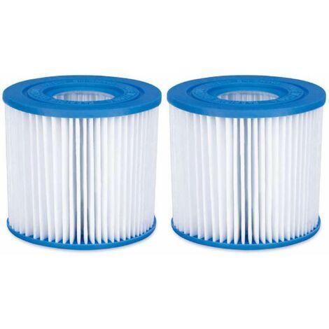 Lot de 2 cartouches filtres pour piscine modèle D