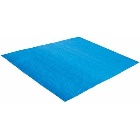 Tapis de sol bleu pour piscine Summer Waves 2,69 x 2,69 m pour piscine Ø 2,44 m