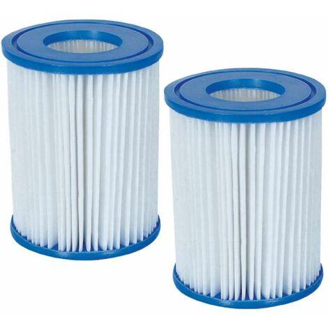Lot de 2 cartouches filtre Bestway type II 136x106mm