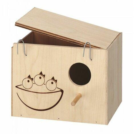 Nido in legno medium per cocorite inseparabili