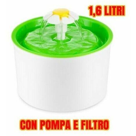 Fontanella per gatto flower 1,6 litri ***super silenziosa****