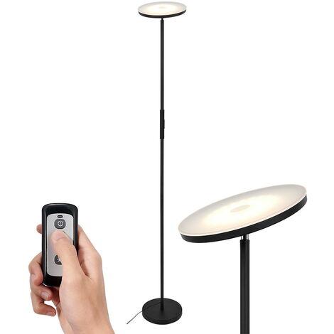 Anten LED Deckenfluter Stehlampe 20W mit 3 Farbtemperaturen, Stufenlos Dimmbar Stehleuchte, Industrielle Standlampe mit Touch & Remote Control, Modern Standleuchte für Wohnzimmer, Schlafzimmer, Büro [Energieklasse A+]