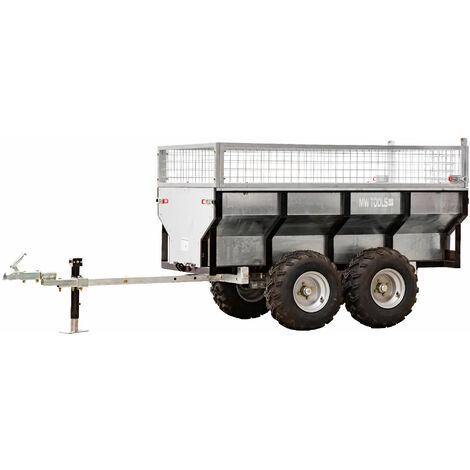Remorque 1000 kg avec benne galvanisée MW-Tools AHR1000G