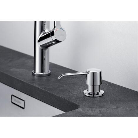 LIVEA Distributeur de savon liquide en acier inoxydable, 250 ml, chromé (DMZCR)