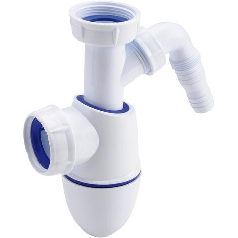 Nicoll Easyphon Siphon avec joint comprimé pour évier, avec raccord pour lave-vaisselle (0224408)