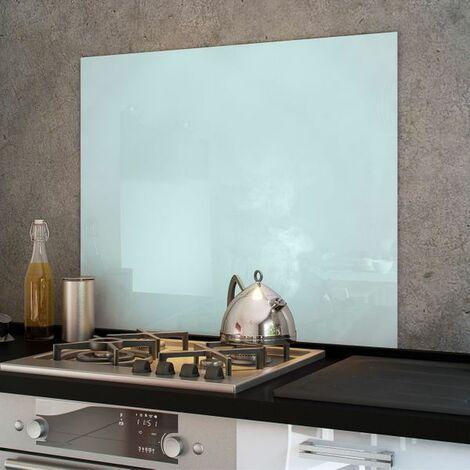 Crédence cuisine fond de hotte verre brillant - Blanc - Hauteur 45cm - 60cm de large