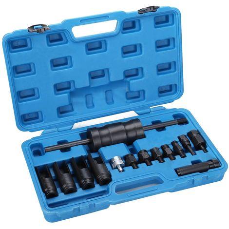 Extractor inyectores con martillo deslizante compatible con common rail, Bosch, Denso, Delphi y Siemens, 14 piezas